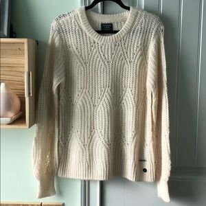 NWOT  cream knit sweater Abercrombie & Fitch